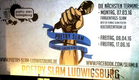 Poetry Slam Ludwigsburg, Oliver Steinhäuser, Blog, Central und Union Kino, Theater