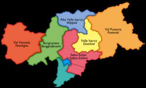 Die Regionen Südtirols